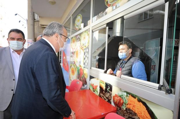 Başkan Çerçi Güzelyurt ve Barbaros'ta esnaf ziyareti yaptı