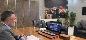 AK Parti'nin 81 il başkanı video konferans sistemiyle bir araya geldi