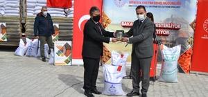 Kulu'da çiftçilere 107 ton sertifikalı mercimek tohumu dağıtıldı
