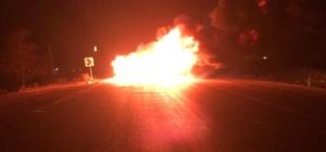 Seyir halindeki kamyonet böyle yandı Kahramanmaraş'ta seyir halindeyken alev alarak yanan kamyonet demir yığınına döndü