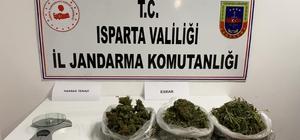 Jandarmanın uyuşturucu operasyonlarında 6 şüpheli yakalandı Isparta'da 1 kilo 28 gram esrar ile 3 bin 560 kullanımlık kağıda emdirilmiş uyuşturucu ele geçirildi