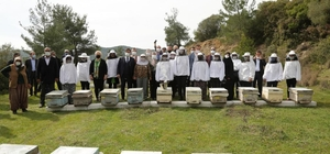 İzmir'de 100 Roman kadına, 1000 arı kovanı teslim edildi