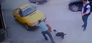 Aracın altında kalmaktan son anda kurtuldu