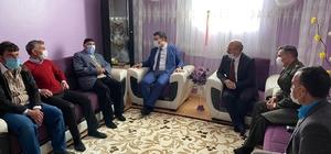 Kaymakam Dertlioğlu ve Başkan Sağlam'dan şehit ailelerine ziyaret