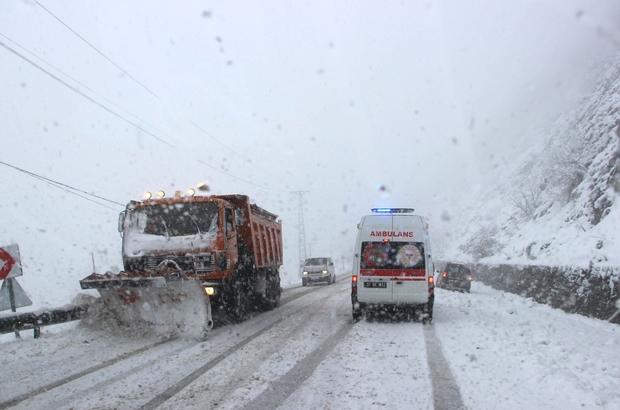 Kastamonu'da yoğun kar yağışı