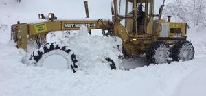 Büyükşehir ekipleri karla mücadele çalışmalarını sürdürüyor