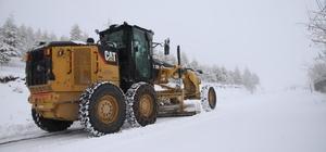 Elazığ'da kar nedeniyle 11 köy yolu ulaşıma kapandı