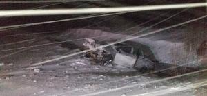Yoldan çıkan otomobil dereye düştü: 1 yaralı