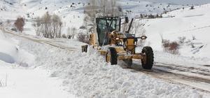 Erzincan'da kar ve tipiden 26 köy yolu ulaşıma kapandı