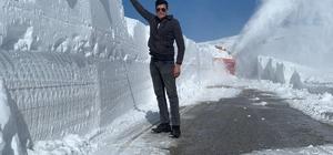 Erzurum'da adam boyu kar Palandöken geçidinde karla mücadele çalışmaları sürüyor