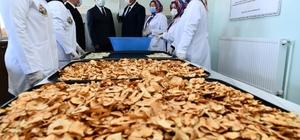 Gelendost'ta kadınlar bir araya geldi, elma kurutma tesisi açtı Tesiste bugüne kadar 10 ton elmada 1.5 ton elma cipsi üretildi