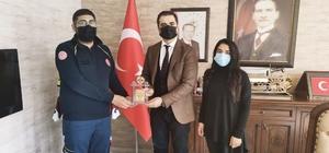 Tunceli'de vefalı sağlık çalışanı ödüllendirildi