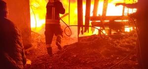 Dalaman'da ahıl yangını