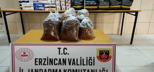 Erzincan'da kaçak makaron ve tütün ele geçirildi