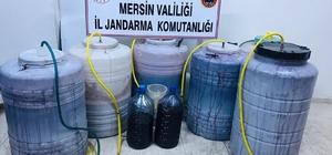 Mersin'de bin 184 litre sahte içki ele geçirildi