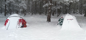 Baharda kış kampı