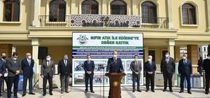 Edirne'de 'Sıfır atık ile Edirne'ye değer kattık' projesi hayata geçirildi