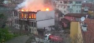 Bursa'da tarihi konaklar bir bir yanıyor Tarihin yanıp kül oluşunu film izler gibi izlediler 2 ay arayla yan yana iki tarihi konağın yanması olayın sabotaj olma ihtimalini kuvvetlendiriyor Yahşibey Mahallesinde tarihi iki konağı küle çeviren yangınlar itfaiye ekipleri tarafından şüpheli bulunurken, polis her iki olayla alakalı tahkikat başlattı Dün akşam iftar saatinde yanan tarihi konak Bursa'nın bir çok noktasından kandil gibi göründü