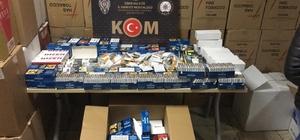 İzmir'de binlerce gümrük kaçağı ürün ve 9 bin 500 litre kaçak akaryakıt ele geçirildi İzmir polisinden ardı ardına kaçakçılık operasyonları: 9 gözaltı