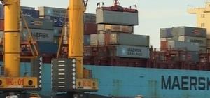 Aliağa limanlarında elleçlenen konteyner ve yük miktarları arttı