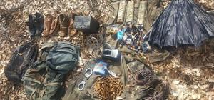 Tunceli'de 1 sığınak imha edildi çok sayıda malzeme ele geçirildi