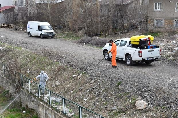 Sivas haşere ve sineklere karşı ilaçlanıyor Sivas Belediyesi ekipleri sivrisinek ve haşerelere karşı kentin tamında ilaçlama çalışması yapıyor