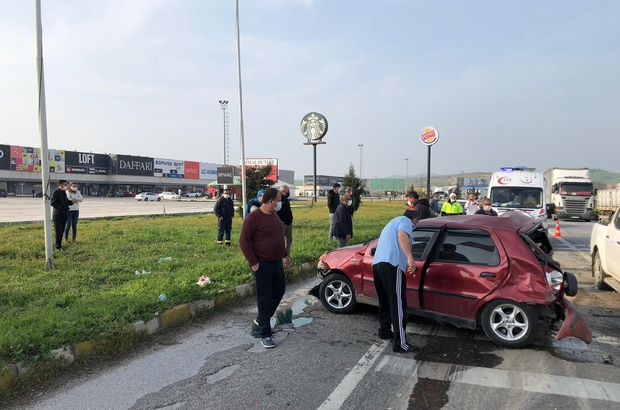 Susurluk'taki zincirleme kazada 1 kişi yaralandı