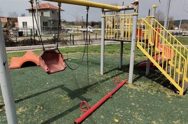 Yenice'de çocuk parkına çirkin saldırı