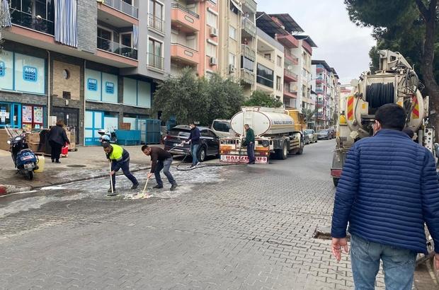 Nazilli sokakları dezenfekte edilmeye devam ediyor