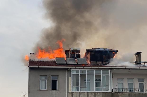 İftara dakikalar kala büyük yangın: Apartman tahliye edildi