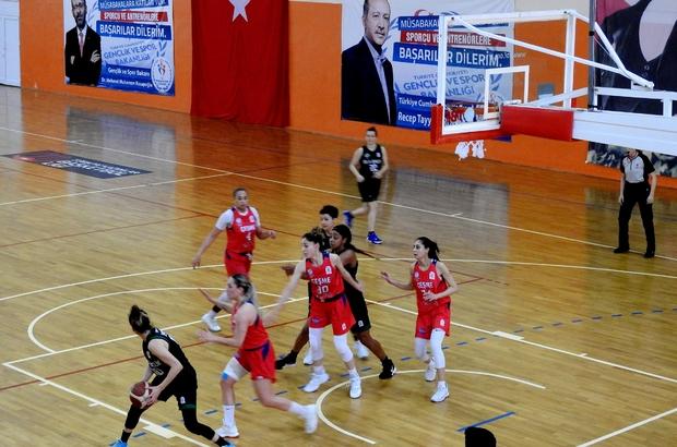 Play-off hedefine ulaşan Çeşme Basket, sıralama için oynuyor