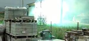 Trafo bomba gibi patlattı Ardı ardına patlamaların yaşandığı trafo şehri elektriksiz bıraktı