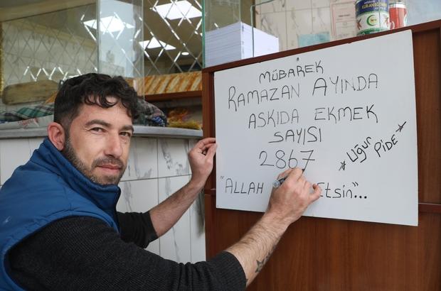 Askıda ekmeğe 3 bin ekmekle destek verdiler Sivas'ta bir pide fırınının Ramazan ayında ihtiyaç sahibi ailelere destek olmak için başlattığı askıda ekmek kampanyasına yardımseverler 3 bin ekmeklik destek verdi