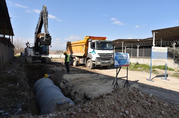 MESKİ, Tarsus ilçesinde yağmursuyu çalışmalarını sürdürüyor