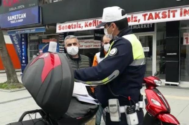 Motosikleti ile izinsiz sokağa çıktı, 5 ayrı ceza yedi Plakası olmayan motosikleti ile ehliyetsiz ve izinsiz dışarı çıktı cezalardan kaçamadı Motosikleti bağlanarak yediemin otoparkına çekildi