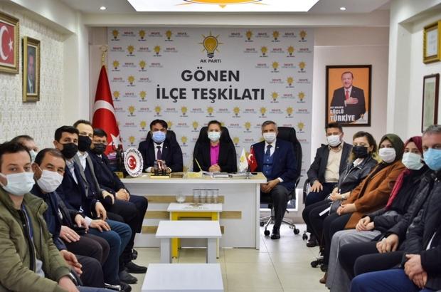 """AK Parti il Başkanı Başaran'dan Sarıköy'e doğalgaz müjdesi Başaran, """"Gönen'de; 3 mahallemiz de doğalgaza kavuşuyor"""""""