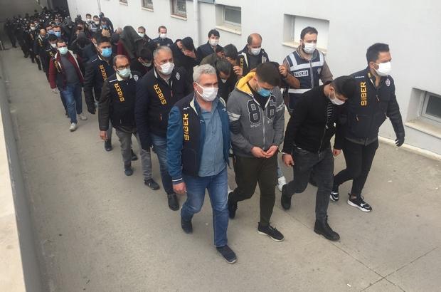 """""""Garantili kupon"""" yalanıyla vatandaşı dolandırıp tavuk çiftliği kurdular Adana merkezli 10 ilde """"garantili kupon"""" vaadiyle internetten dolandırıcılık yaptıkları ileri sürülen kişilere yönelik düzenlenen ve 29 zanlının tutuklandığı soruşturma kapsamında şüphelilerin yasa dışı bahis oynatma bahanesiyle vatandaşları dolandırıp kazandıkları parayla tavuk çiftliği kurduğu ortaya çıktı"""