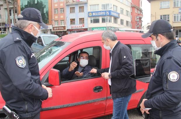 Tosya'da şehir içi ve D-100 Karayolu'nda hafta sonu denetimi