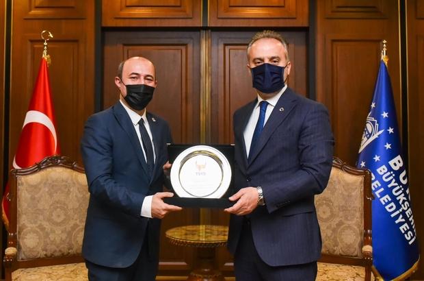 TSYD Bursa Şubesi'nden Başkan Alinur Aktaş'a ziyaret