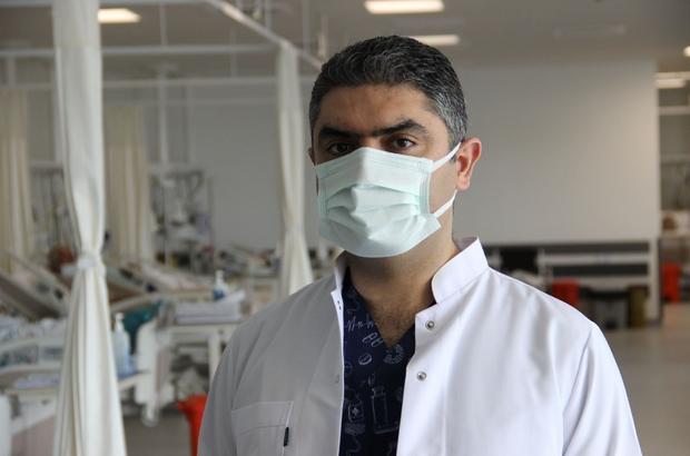 """Kalp krizi geçiren Covid-19 hastalarında önemli bulgular görüldü Manisa Şehir Hastanesi Kardiyoloji Bölümü Sorumlu Hekimi Uzm. Dr. Mehmet Burak Özen: """"Covid-19'un özellikle kalp krizini, pıhtılaşma bozukluğunu ve akciğerlere pıhtı atmasını arttırdığını düşünüyoruz"""""""