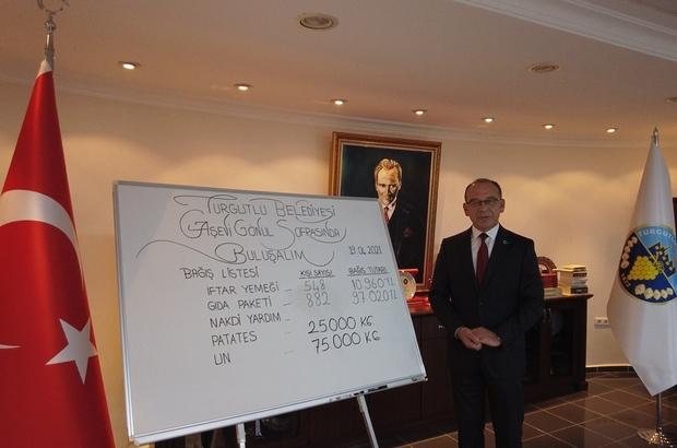 Turgutlu Belediyesi'nin 'Gönül Sofrası'na erzak paketi bağışlandı