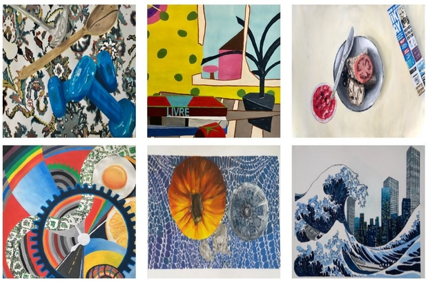 Temel sanat eğitimi proje sunum sergisi online yapıldı