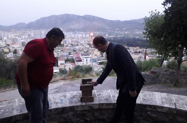 7 asırlık kaleden ramazan topunu Kaymakam Gürçam attı