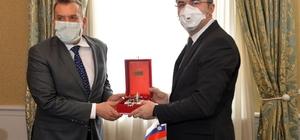 Slovenya Cumhuriyeti Büyükelçisi Seligo, Vali Memiş'i ziyaret etti
