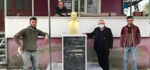 Kayaca mahallesi Atatürk büstüne kavuştu