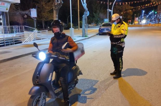 Burdur'da motosiklet denetimi