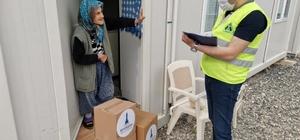 Büyükşehirden Karaburun'daki depremzedelere destek