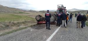 Devrilen traktörün altında kalan bir kişi hayatını kaybetti