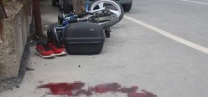 Otomobil ile mobilet çarpıştı: 1 ağır yaralı Feci kaza güvenlik kameralarınca saniye saniye görüntülendi