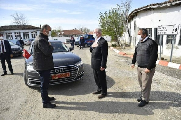 Edirne valisi bir günde 59 köyü ziyaret etti